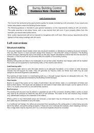 Loft Conversions additional info - Elmbridge Borough Council
