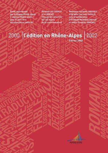L' Édition en Rhône-Alpes - Arald