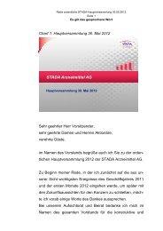 STADA-HV-Rede 2012 - STADA Arzneimittel AG