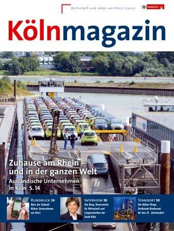 Kölnmagazin 1/2012 [ PDF , 8391 KB ] - Stadt Köln