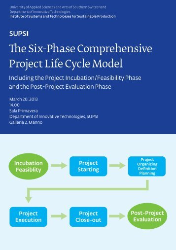The Six-Phase Comprehensive Project Life Cycle Model - Supsi