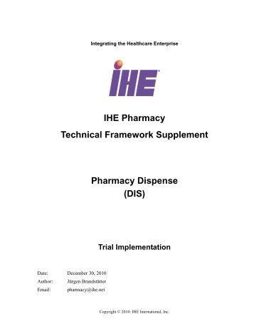 Pharmacy - Profile Supplement - IHE