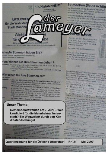 Der Lameyer - 2009 Nr.31 Mai