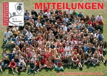 OTB-Mitteilungen 03/2007 - Oldenburger Turnerbund