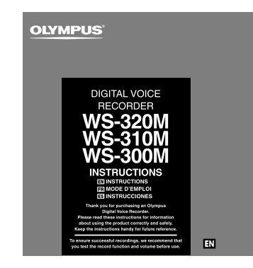 WS-320M WS-310M WS-300M - Olympus America