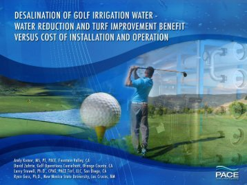 Desalination of Golf Irrigation Water