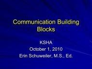 Communication Building Blocks - Kansas Speech-Language ...