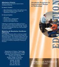 The Instructional Design and Technology program - Darden College ...