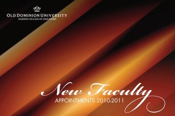 APPOINTMENTS 2010-2011 - Darden College of Education - Old ...