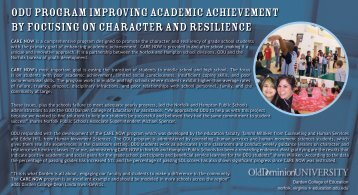odu program improving academic achievement by focusing