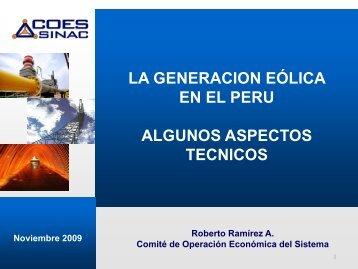 Algunos aspectos tecnicos de la generación eólica en ... - Tech4CDM