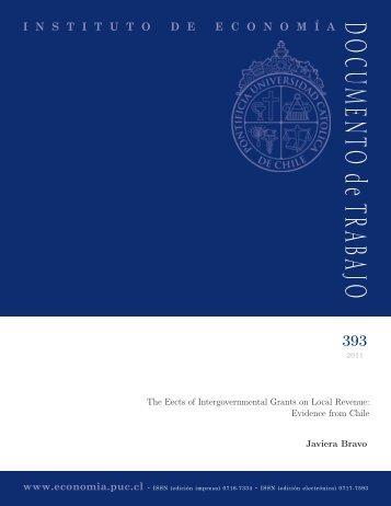 DOCUMENTO de TRABAJO - Instituto de Economía - Pontificia ...