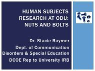 Human Subjects Research Meeting Requirements - Darden College ...