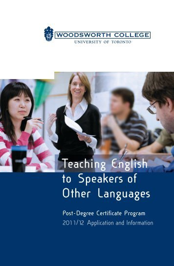 Teaching English to Speakers of Other Languages - Woodsworth ...