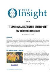 technology & sustainable development - International Society of ...