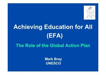Achieving Education for All (EFA) - G8-UNESCO World Forum on