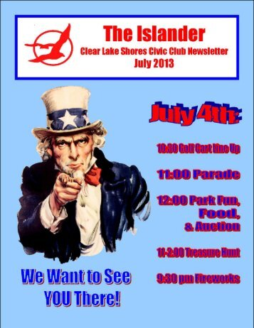 July 2013 - Clear Lake Shores Civic Club