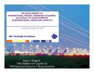 The development of international freight transport in Europe as a ...