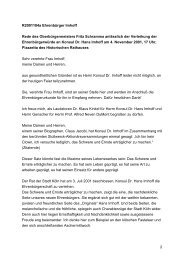 Verleihung der Ehrenbürgerwürde an Konsul Dr. Hans ... - Stadt Köln