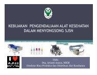 9. sosialisasi bali - Direktorat Jenderal Bina Kefarmasian dan Alat ...