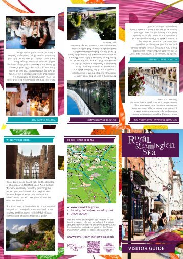 VISITOR GUIDE - Royal Leamington Spa