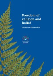 Freedom of religion and belief - Human Rights Commission