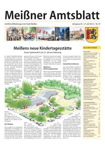 Amtsblatt Nr. 07 vom 27. Juli 2012 (pdf - Stadt Meißen