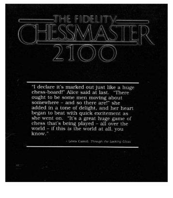 Chessmaster 2100 Manual - Virtual Apple
