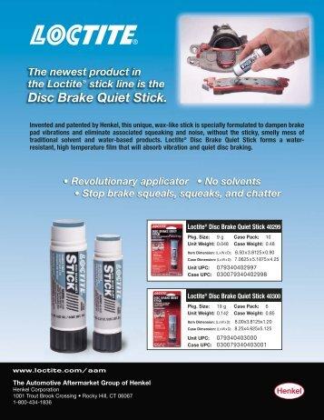 LT4246 Disc Brake Quiet Stick SS:LT-4246 QuietStixSS - Loctite.ph