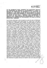 ATA DE ASSEMBLÉIA GERAL oRDINARiA DOS ... - Sindpd