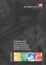 RK ROSE KRIEGER Produktübersicht Product overview Aperçu des ...
