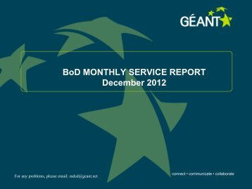 BoD MONTHLY SERVICE REPORT
