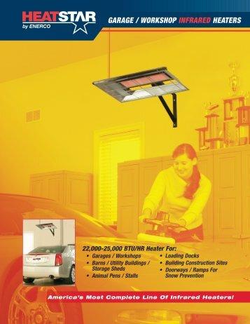 HS25 & HS22L Garage Heater Spec Sheet