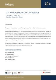 24th Annual Labour Law Conference 2011 Conference Booklet