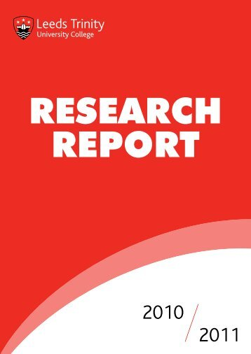 Research report 2010-2011 - Leeds Trinity University