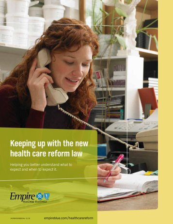 Keeping up with the new health care reform law - Anthem Health ...