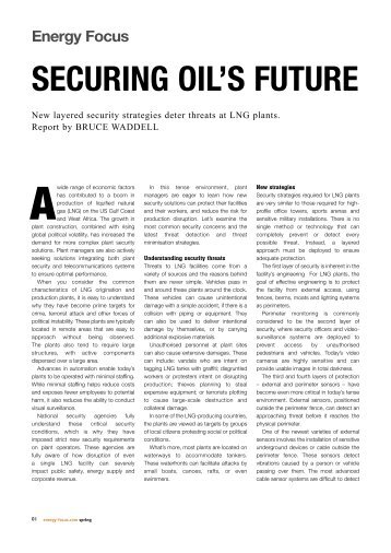 SECURING OIL'S FUTURE - Stratos Global Corporation