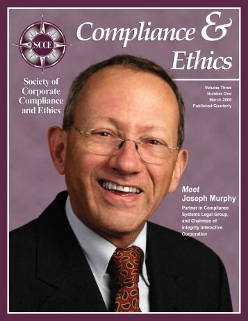 How smart corporations do the right thing - Society of Corporate ...