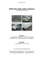 DVD City ApS under konkurs - konkurser.dk