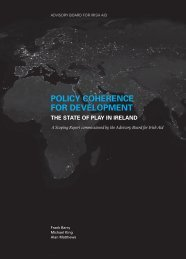 POLICY COHERENCE FOR DEVELOPMENT - Trinity College Dublin