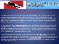 Welcome to Northeast Scuba!