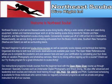 Boston scuba instruction