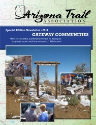 Winter 2010-11 - Arizona Trail Association
