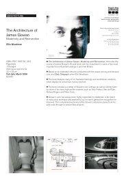 The Architecture of James Gowan - Black Dog Publishing