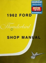 DEMO - 1962 Ford Thunderbird Shop Manual - ForelPublishing.com