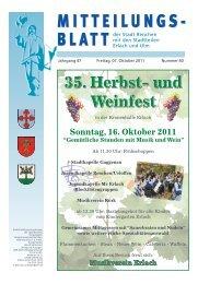 35. Herbst- und Weinfest - Stadt Renchen