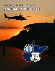 2008 Annual Report - West Virginia Army National Guard - U.S. Army