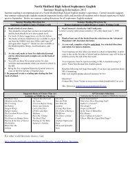Sophomore Summer Reading 2013.pdf - Medford School District