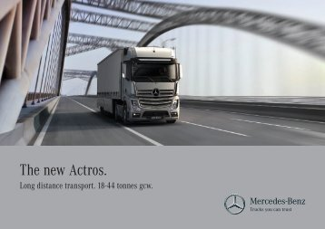 Download the new Actros summary brochure