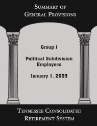 Summary of General Provisions for Political Subdivision Employees